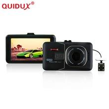 QUIDUX New Dual Camera Car DVR Full HD 1080P Dual Lens rear cam Dash Cam Video Recorder Camera Night Vision Car DVR Camcorder
