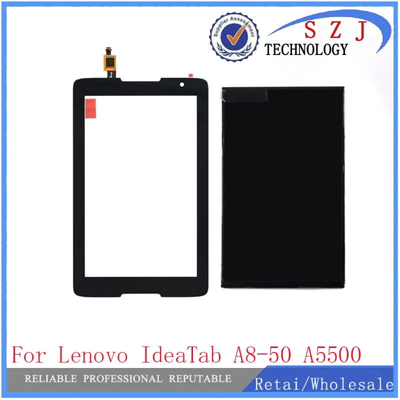 New 8'' inch case For Lenovo IdeaTab A8-50 A5500 A5500-H LCD Display+Touch Screen Digitizer Glass Sensor Panel Replacement аксессуар чехол lenovo ideatab s6000 g case executive white