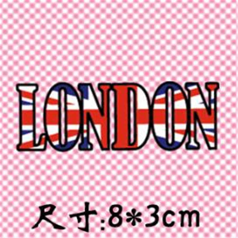 تي شيرت المرأة نقل الحرارة الطباعة لندن العلم بولي كلوريد الفينيل التصحيح للملابس الحديد على نقل بقع للملابس فتاة ملصقات ثلاثية الأبعاد