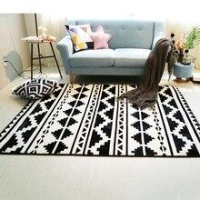 Фотография Fashion Black White Geometric Ethnic Hallway Living Room Bedroom Decorative Carpet Area Rug Floor Bathroom Foot Yoga Play Mat