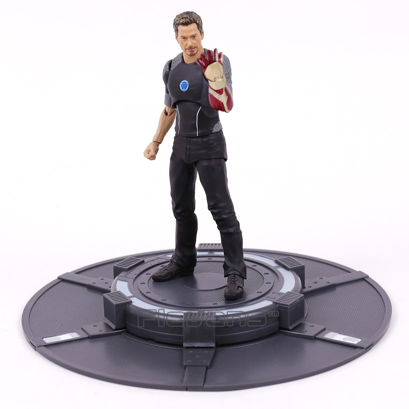 SHFiguarts Iron Man Tony Stark with Tony's Powerd Stage PVC Action Figure Collectible Model Toy 16cm 1 6th scale figure accessory iron man headsculpt tony stark head shape for 12 action figure doll not included body and clothes