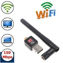 Wireless Adapter Usb 150Mbps Wireless Rceiver Transmitter Wireless USB Dongle For Computer Wifi USB Rotatable Antenna