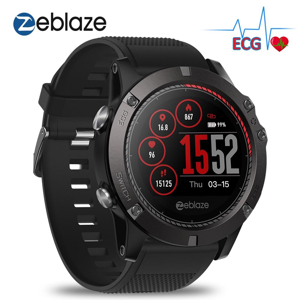 Zeblaze VIBE 3 ECG Smartwatch Men Instant ECG Color Display Heart Rate IP67 Waterproof Multi sports