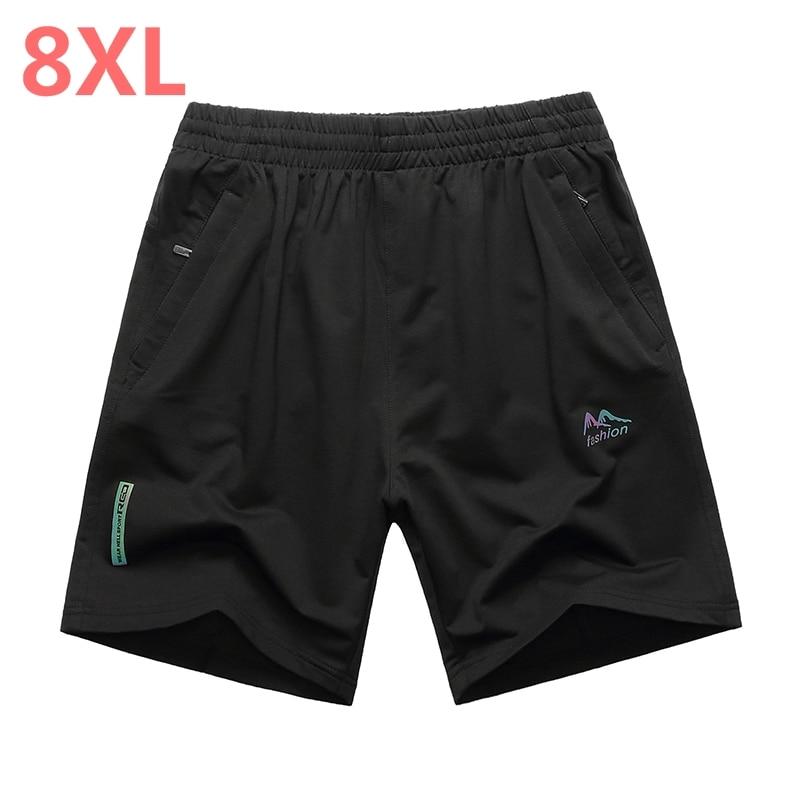 NEW plus size 10XL 9XL 8XL 7XL summer men's shorts loose elastic cotton casual shorts fashion jogger shorts men's short pants