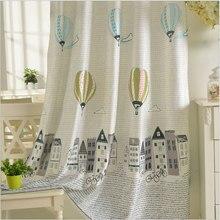 Polyester Baumwolle Vorhänge für Kinder Koreanische Stil Fenster Behandlungen Cartoon Ballon Muster Fenster Vorhang für Kinder Schlafzimmer