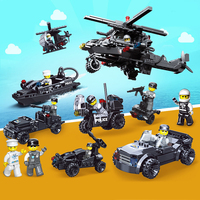 408PCS 6 in 1 special duty unit action figure Building Blocks Bricks Military Vehicles Compatible Legoed Weapons Toys For Child