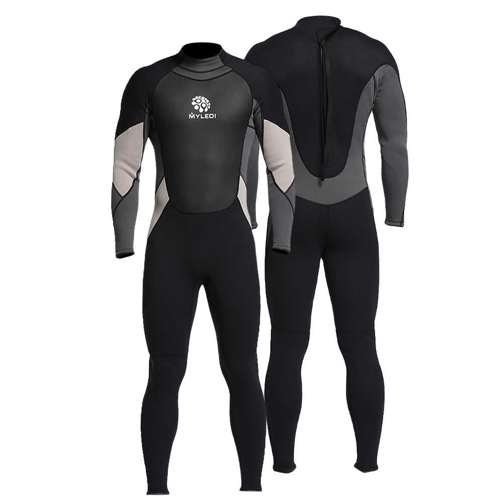 7a7c84f7df Men s Neoprene Wetsuit One-Piece Full body 3mm Back Zip Scuba Dive Wetsuit  Swimming Surfing