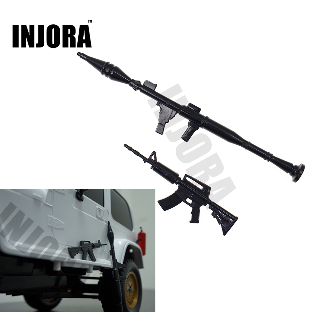 RC Crawler Accessory Rifle And Mortar For 1:10 Axial SCX10 90047 D90 D110 TF2 Traxxas TRX-4