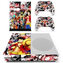 Anime One Piece Luffy naklejka naklejka skóry dla Microsoft Xbox One S konsola i 2 kontrolery do konsoli Xbox One S naklejki skóry tanie tanio YSP4S-0798 Konsola Xbox One Yolouxiku For Microsoft Xbox One S Zapraszamy For Xbox One S Skin Sticker