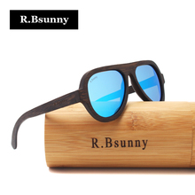 R.Bsunny Bamboo Polarized Sunglasses Men Women Luxury Handmade Wood Sun Glasses eyewear for Friends as Gifts Dropshipping OEM