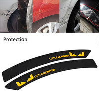 2 X Car Fender Flares Arch Wheel Eyebrow Protector Rubber Bumper Protection Sticker