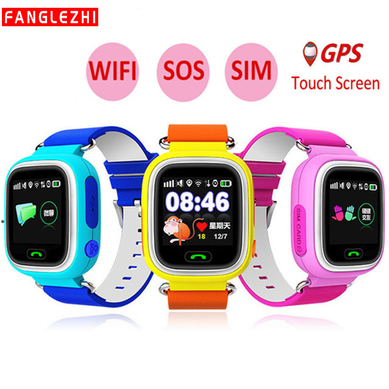 Q90 Kids Smart Phone Watch 2019 New Color Screen GPS WIFI SOS Waterproof For IPhone IOS