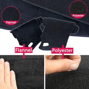 עבור יונדאי הסונטה NF 2005 2006 2007 2008 2009 אנטי להחליק מחצלת לוח מחוונים כיסוי כרית שמשיה Dashmat להגן על שטיח אביזרי שטיח