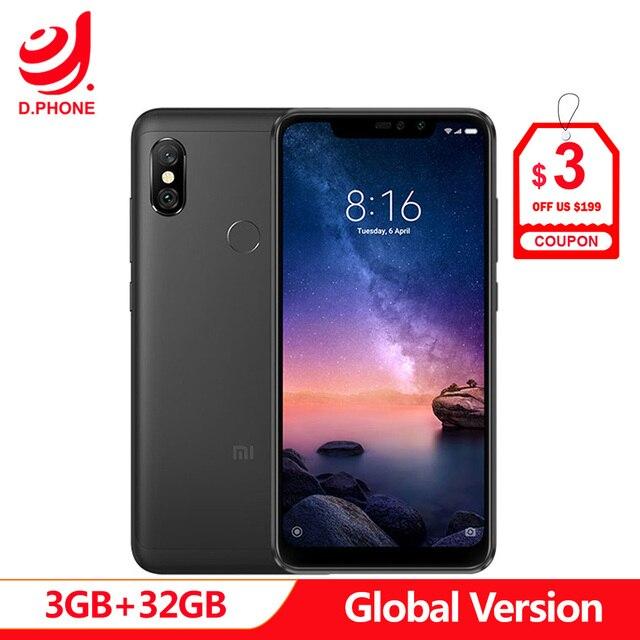 "Spain 1 5 Work Days Global Version Xiaomi Redmi Note 6 Pro 6pro 3GB 32GB 6.26"" Full Screen 4 Cameras Snapdragon 636 Smartphone"