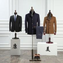 Half body fiberglass male mannequin formal dress suit display mannequin men fabric mannequin with wooden arms shoes pants racks