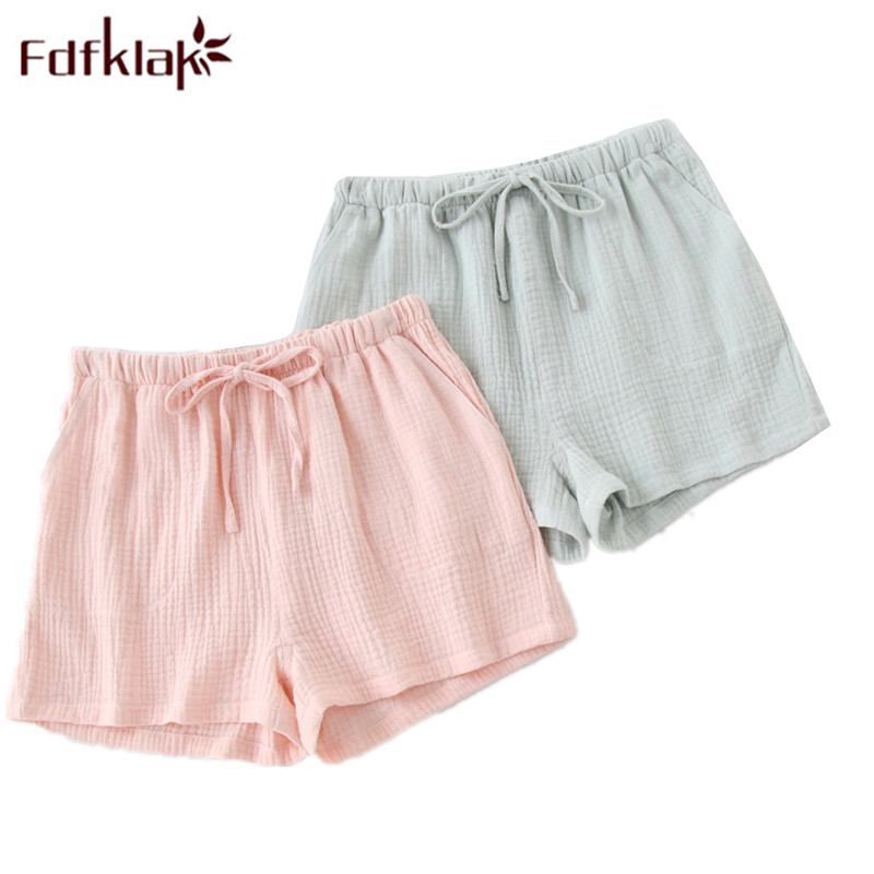 Fdfklak New Products 2020 Summer Couple Pajama Pants Shorts Women Sleep Lounge Wear Drawstring Sleeping Pants Pyjamas Pants Q949