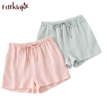 Fdfklak New Products 2020 Summer Couple Pajama Pants Shorts Women Sleep