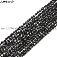 1970pcs Black Color 2mm Bicone Spacer Austria Crystal beads DIY Jewelry Crafts Making Loose Beads Accessory F/S