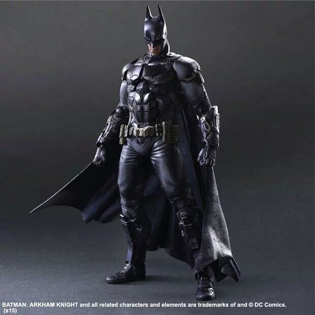 Play Arts DC No 1 Batman Figures Arkham Asylum Knight Model Toys 25cm