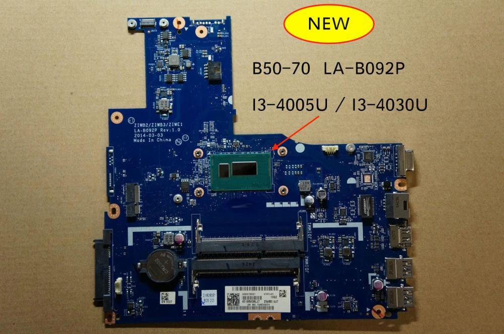 Free Shipping New For Lenovo B50-70 ZIWB/ ZIWB3/ZIWE1 LA-B092P Rev 1.0 Notebook Motherboard Mother Board