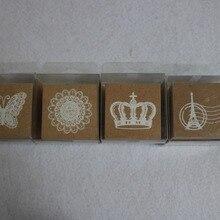 Новинка Корона башня кружева бабочка штамп с чернилами украшения Печать школьные принадлежности детский подарок альбом штамп для свадьбы