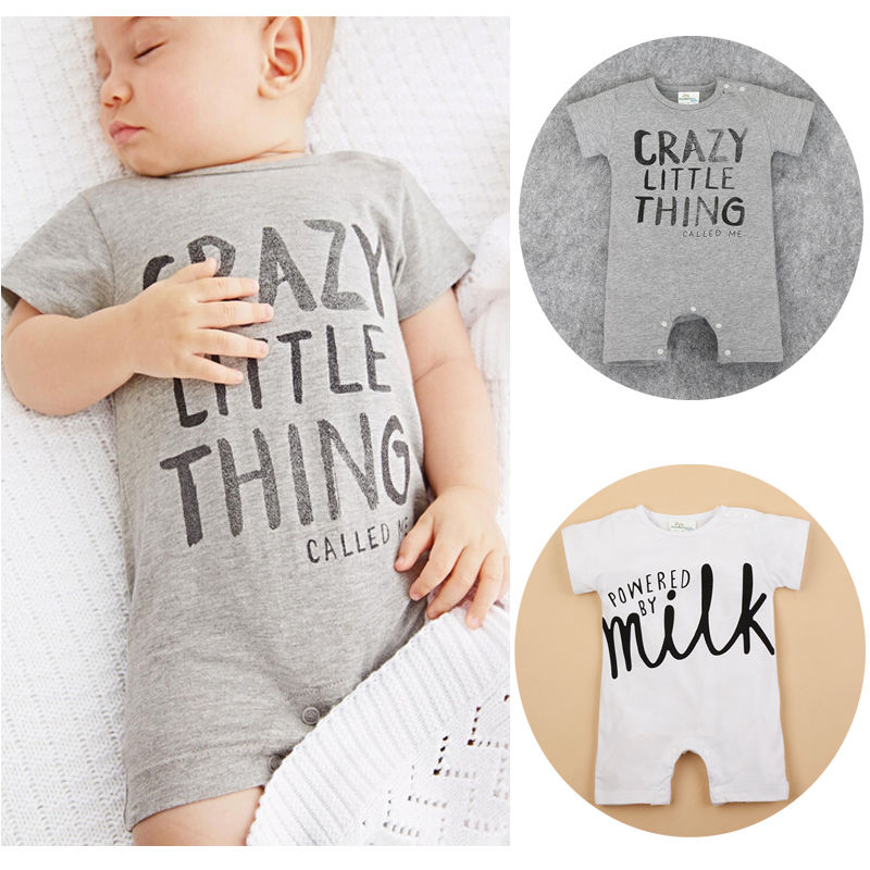Boys girls letter Milk Rompers Newborn Baby Infant Babies Boy Girl Cute Cotton Romper one pieces