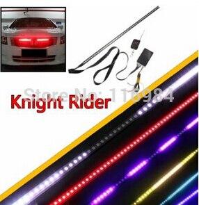 Waterproof Remote 7 Color 48 LED Flash Car Strobe Knight Rider <font><b>Light</b></font> Strip Kit +Remote Control