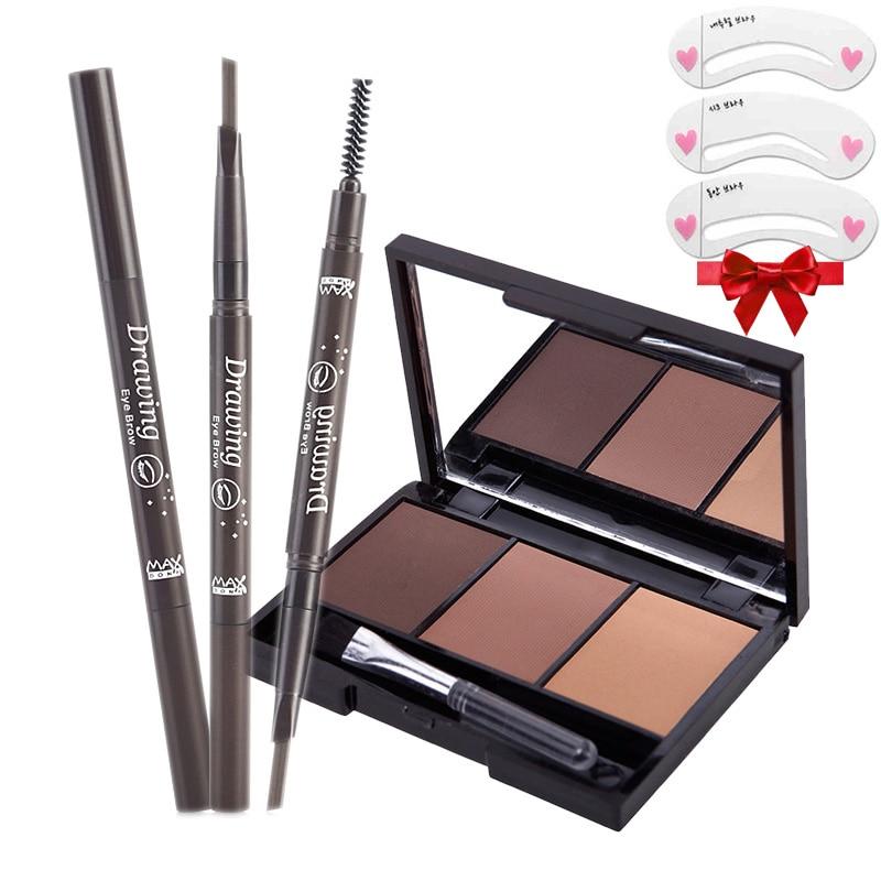 Portable eyebrow enhancer set [eyebrow powder Palette ...