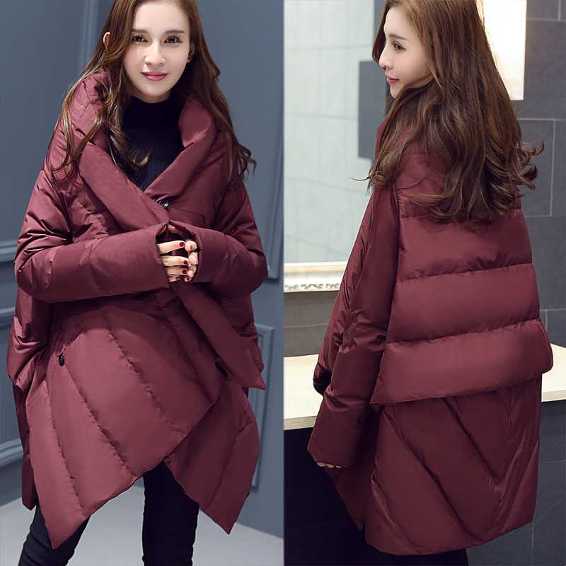 Jacket Women Winter Coat 2017 New Ladies Padded Cloak Warm Parkas Female Wadded Cotton Jackets and Coats Plus Size A4610 2017 new women long winter jacket plus size warm cotton padded jacket hood female parkas wadded jacket outerwear coats 5 colors