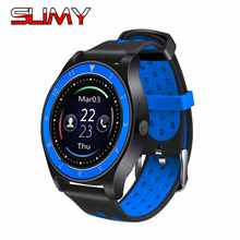 Slimy R10 Smart Watch Phone Support 2G Sim TF Card Call Message Reminder Smart Wristwatch Round Screen PK V8 V89 Y1 Smartwatch(China)