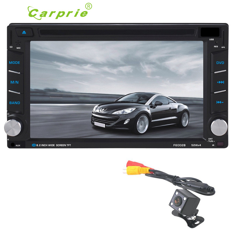 AUTO Car Video Reproductor de DVD 6.2 ''HD de Pantalla Táctil Bluetooth Estéreo