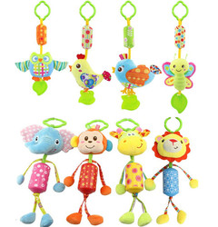 8 stil Baby Kinderwagen Hängen Plüsch Tier Eule Vogel Schmetterling küken lion giraffe affe Campanula Ring Glocke Krippe Spielzeug 40% off