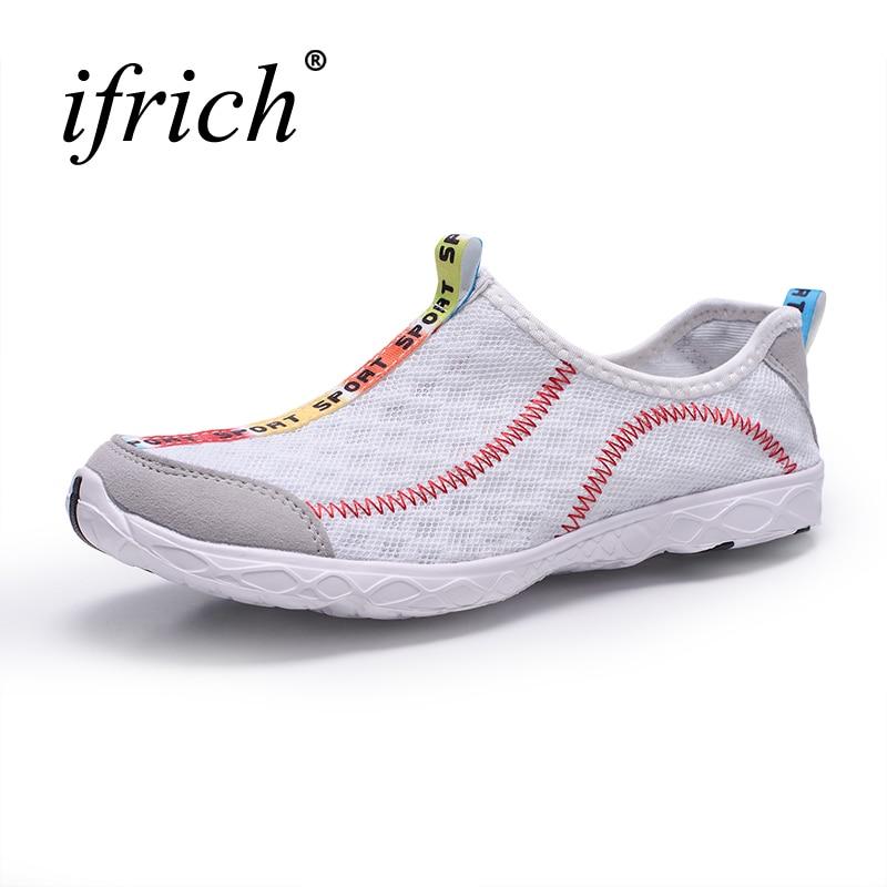 2019 Plus Size Man Women Aqua Sneakers Sports Shoes Lightweight Water Shoes Women Men Slip On Outdoor Walking Shoes Cheap