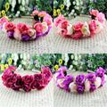 Розы корону повязки для женщин свадебный фестиваль двухрядные цветочные гирлянды Hairbands бесплатная доставка case-py L4