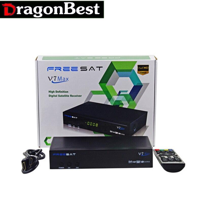 ФОТО 1080p Full HD Freesat V7 Max DVB-S2 Digital Satellite TV Receiver PowerVu Biss Key Set Top Box USB WIFI dongle Android
