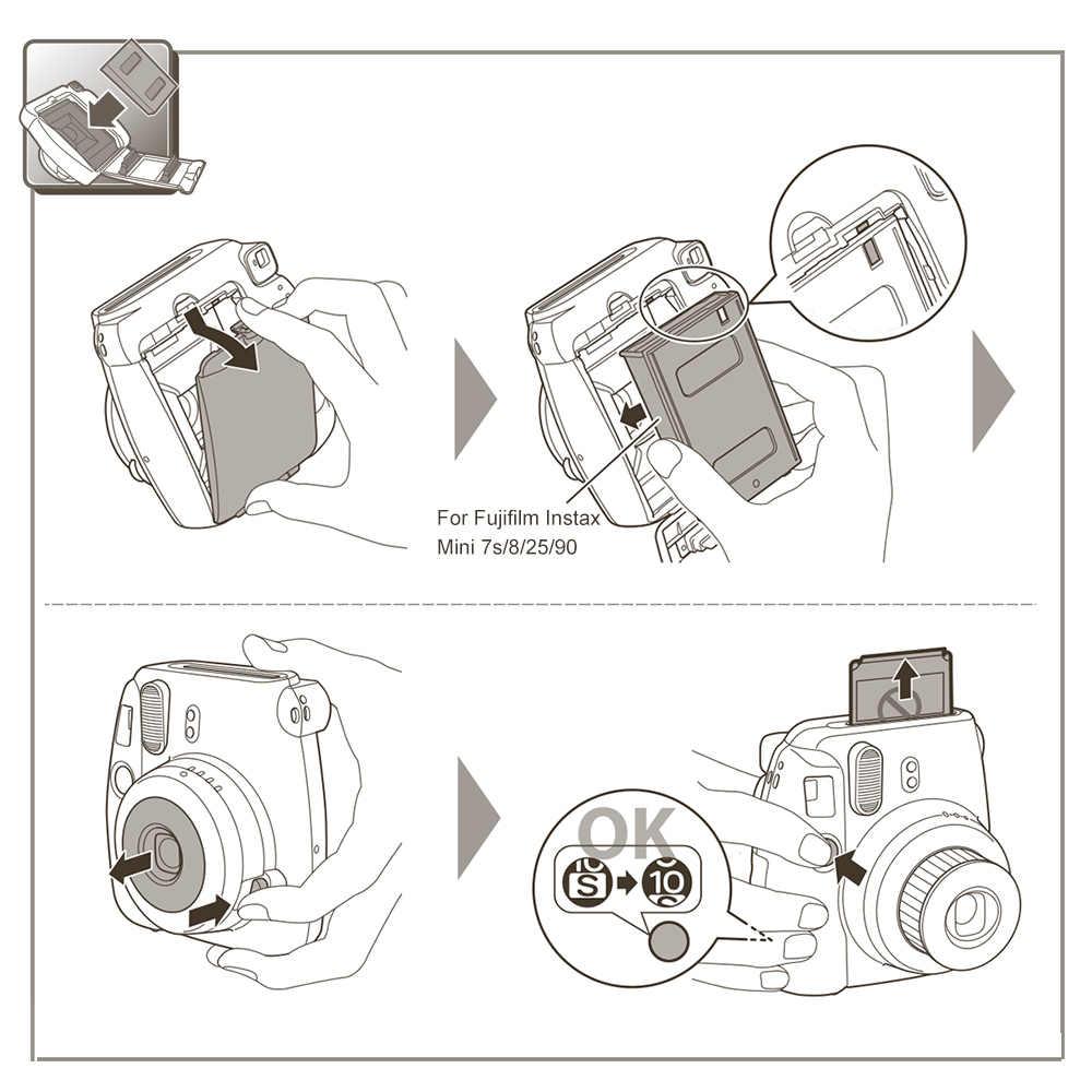 Fujifilm Instax Mini Film 8 9 Film 10-200 arkusz Mini biały papier fotograficzny do aparatu Instax Mini7s 50s 90 papier fotograficzny biały