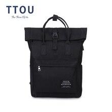 TTOU Women External USB Charge Backpack Canvas School Backpa