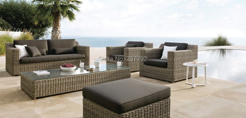 2017 best seller outdoor garden brown wicker luxury furniture safari outdoor sofa setchina