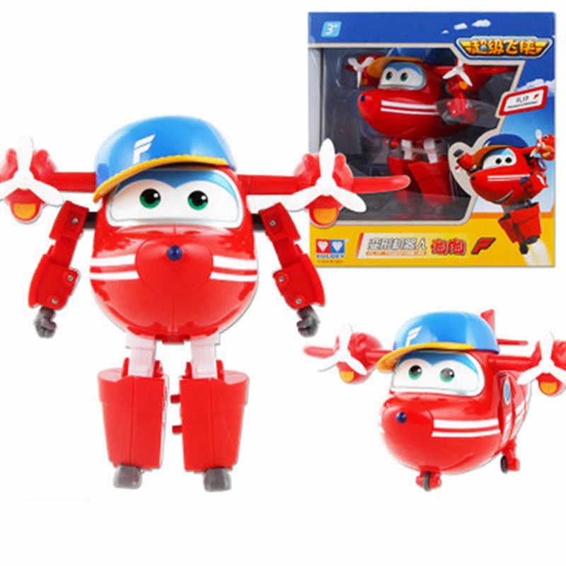 Grande!!! 15 centimetri ABS Super Ali Deformazione Robot Aereo Action Figures Super Ala Trasformazione giocattoli per il regalo dei bambini Brinquedos