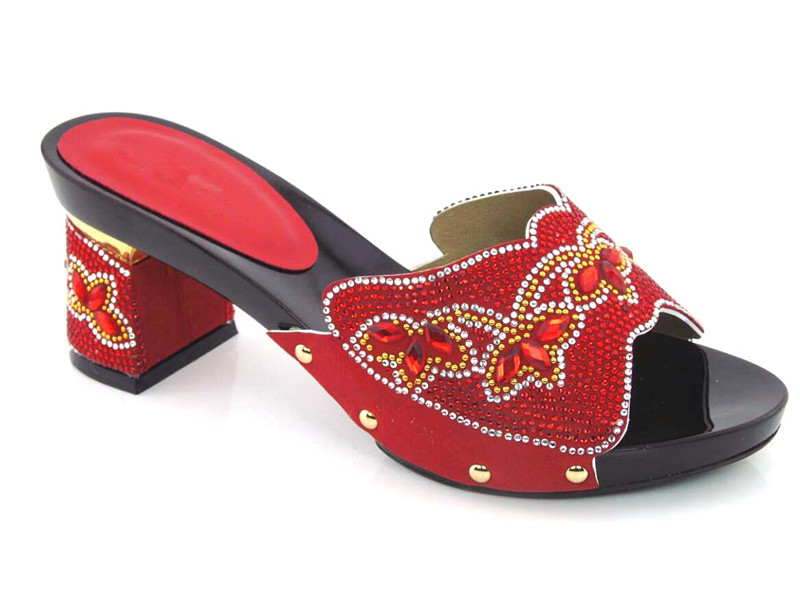 ФОТО High Qulaity RED African Sandals Shoes Elegant Women's Shoes High Heels Factory Price!! DG1-27