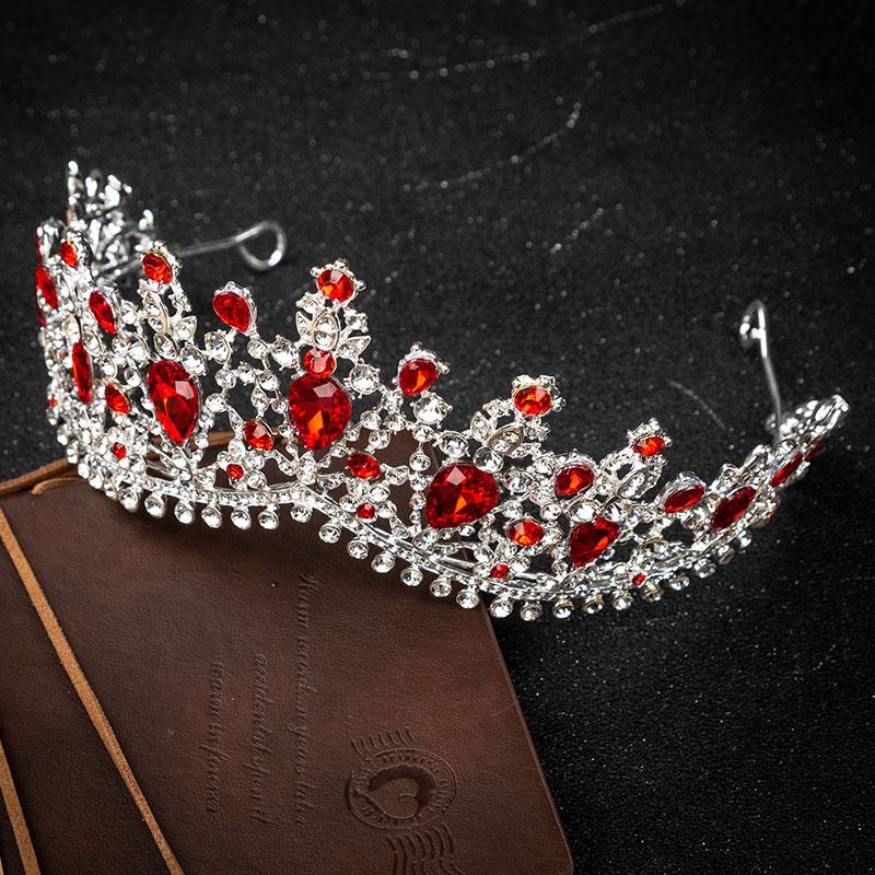KMVEXO European Design Crystal Big Princess Queen Crowns Marriage Bridal Wedding Hair Accessories Jewelry Bride Tiaras Headbands in Hair Jewelry from Jewelry Accessories