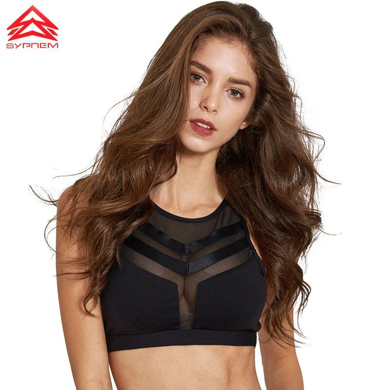 SYPREM Sports Bra Brand High Quality Fitness Top Sports Yoga Running Sexy Mesh Bra Womens Sportswear Push Up Bra ,1FT1097