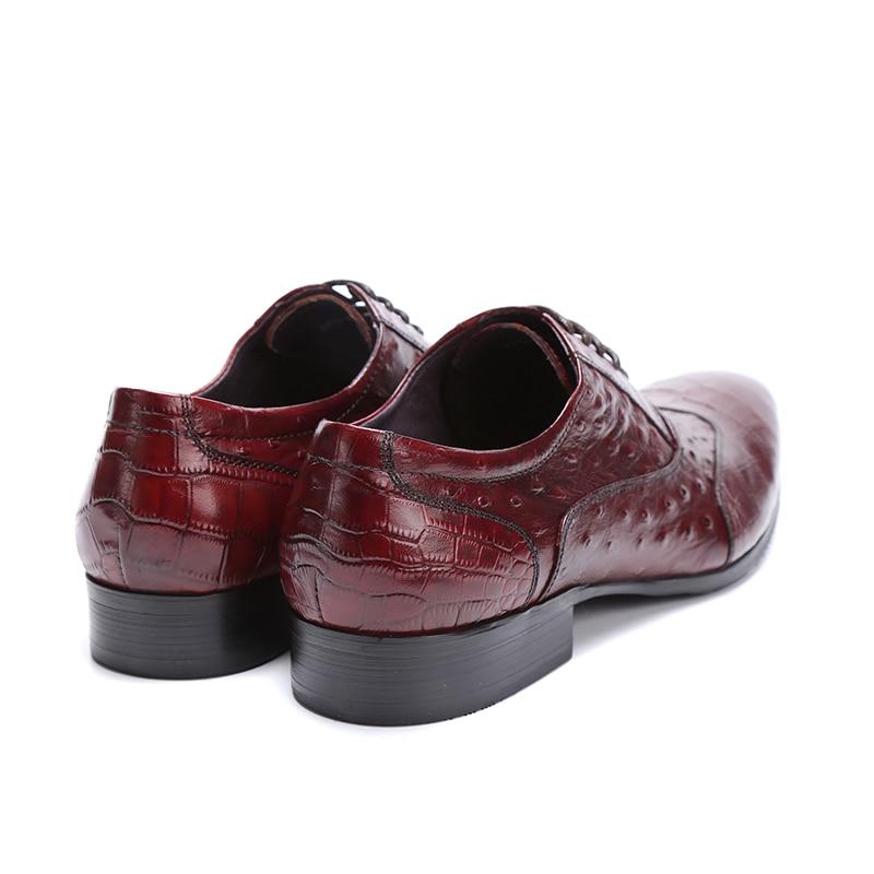 Oxfords De Vestir brown Negro Genuino Cuero Tan Boda marrón Gran Hombre Negocios Eur45 Hombre Black Serpentina Para Tamaño Zapatos AxPYwqr1A