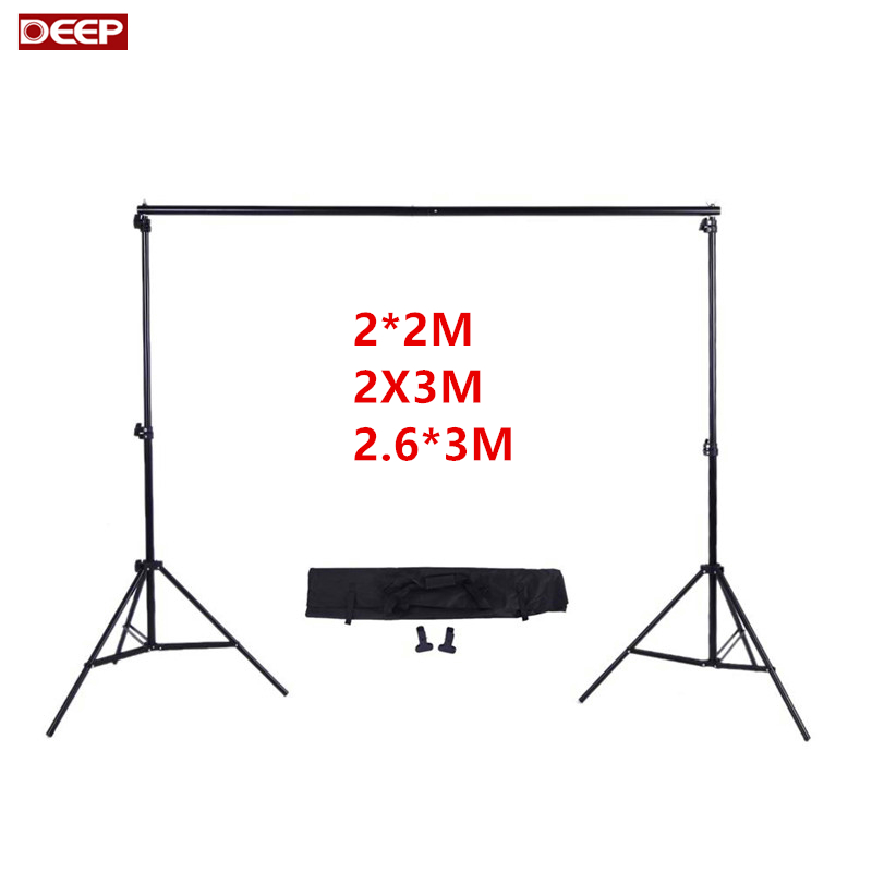 DHL TNT FREE Photography Photo studio Background Backdrops Support System Stand For Photo Video Studio + carry bag + 3 clamps ashanks pro photography studio photo backdrops frame background support system 2m x 2 4m stands for photo shoot carry bag