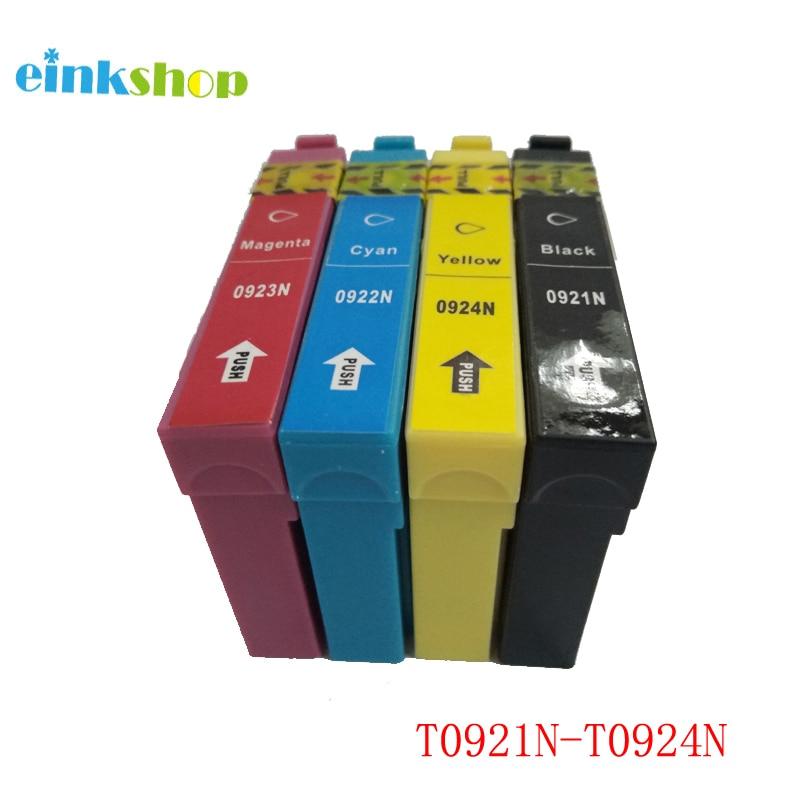 T0921N T0921 - Epson Stylus CX4300 TX117 için T0924 Mürekkep Kartuşu T26 T27 TX106 TX119 TX109 C91 Yazıcı T0921 T0921N Mürekkep