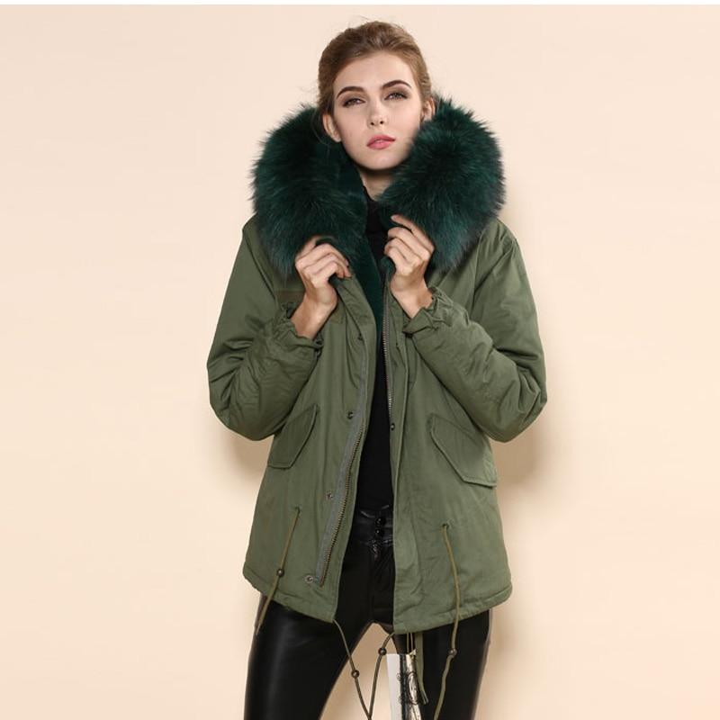 Aliexpress.com : Buy Dark green elegant real fur Mrs fur collar