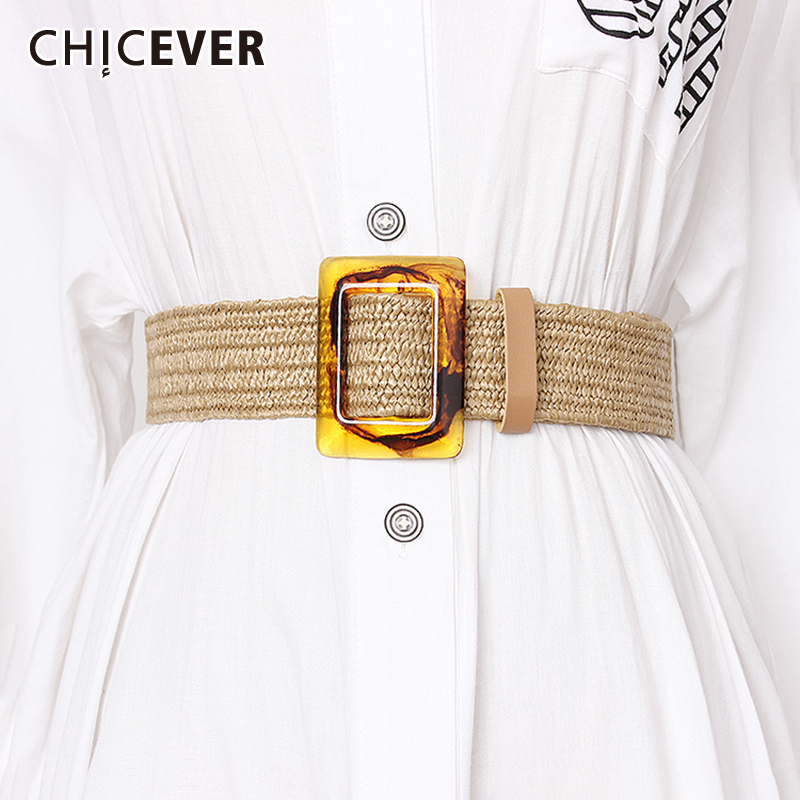 CHICEVER Korean Summer Striped High Waist Belt Female Vintage Dresses Shirt Accessories Belts For Women 2019 Fashion New