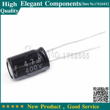 20 Pz 4.7 UF 400 V 400 V 4.7 UF condensatori elettrolitici In Alluminio formato 8*12mm 400 V/4.7 UF condensatore Elettrolitico