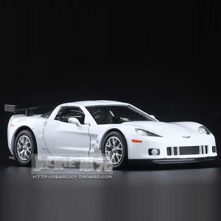 High Simulation Exquisite Diecasts&Toy Vehicles: RMZ city Car Styling Chevrolet Corvette C6-R Supercar 1:36 Alloy Diecast Model