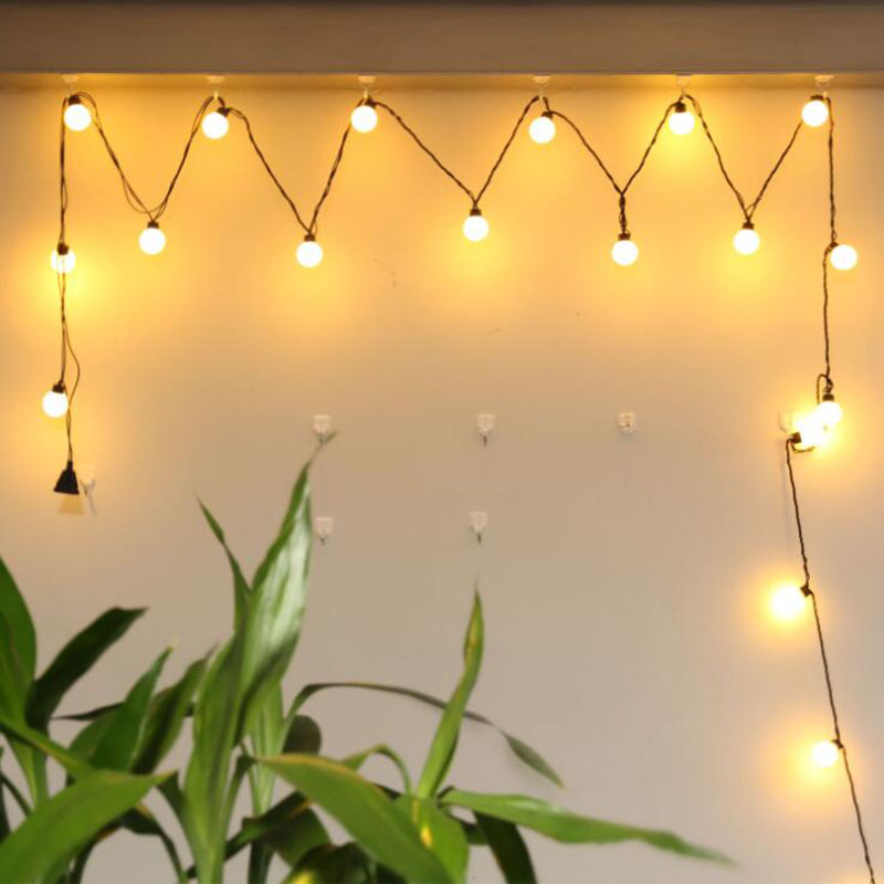 5M 20LED 4CM big ball light Fairy String Lights Lamp Starry with AA Battery Festival Christmas Wedding Decoration